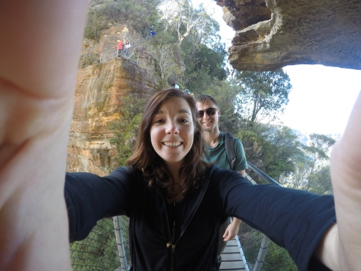 Hiking in the Blue Mountains outside of Sydney