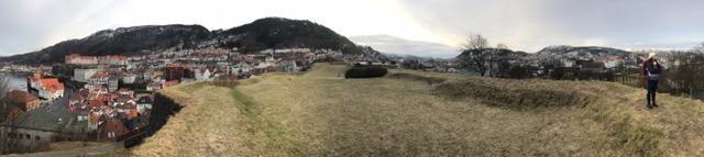 Viewpoint near Bergenhus Castle
